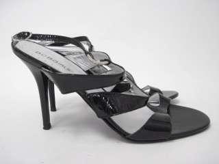 BCBG Black Patent Leather Strappy Pumps Shoes Sz 39 9
