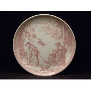 Christmas Plate #3 Cranberry Sleighing