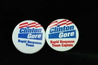 Metal Political Campaign Pinback Button Lot Clinton Gore 1992