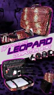 15 17 Women Laptop Notebook Case Bag Leopard glod pink fish scale
