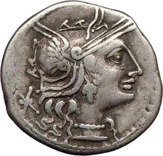 Roman Republic L. Minucius 133BC Ancient Silver Coin GRAPE ROMA