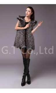 0311 women fox fur gilet vests waistcoat sleeveless vest coat jacket