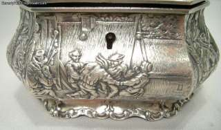 Antique 800 Silver European Tea Caddy