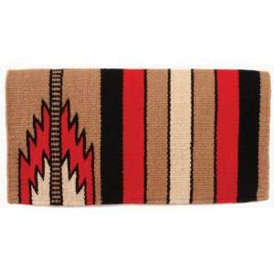 Mayatex Saddle Blanket   Prospector   Fawn/Red/Black/Sand