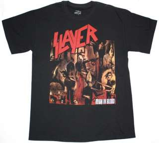 SLAYER REIGN IN BLOOD86 THRASH BAND DARK ANGEL TESTAMENT NEW BLACK T