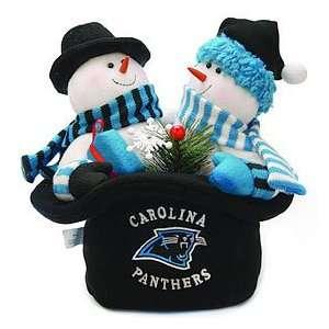 Carolina Panthers Snowmen Top Hat