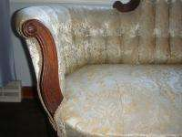 Victorian Parlour Sofa / Settee Late 1800s Beautiful Solid Piece