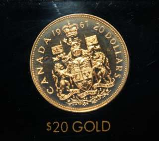 1967 Canadian Centennial Proof Set With $20 Gold Coin