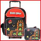 Angry Birds School Roller Backpack /16 Rolling Bag /Trolley  3 Birds