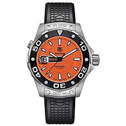 Tag Heuer Mens Aquaracer 500 meter Orange Watch