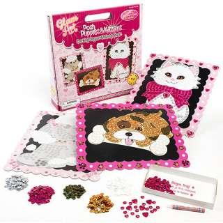 Glam Art Posh Puppy and Kittens, Glam Art Craft Kit, Sequin Art Kit