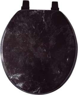 BLACK MARBLEIZED HARD WOOD TOILET SEAT