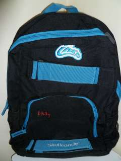 NEW Skullcandy Inkd Inkd Blue and Black Backpack Skull School Bag NWT