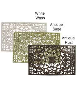 Large Cast Iron Rectangular Door Mat  Overstock