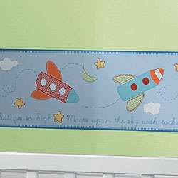 Sumersault Rocket Baby Wallpaper Border  Overstock
