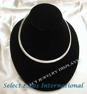 Black Velvet Flat Necklace Omega Display Jewelry 4 H