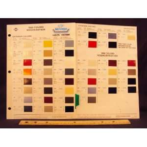 200SX, & 300ZX Paint Colors Chip Page Nissan Motor Company LTD Books