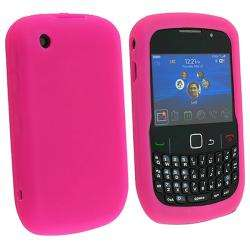 Hot Pink Silicone Skin Case for Blackberry Curve 8520/ 8530