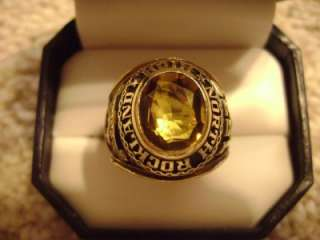 MENS 10K GOLD NORTH ROCKLAND HIGH SCHOOL CLASS RING 1973  NO SCRAP 15