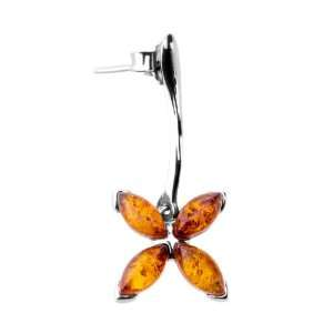ANYA Dangled Earring with Amber: Jewelry