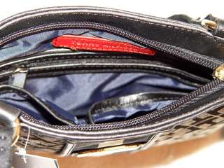 NW ommy Hilfiger Logo Black oe Handbag Bag Purse |