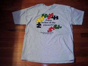 Adult 3X Christian Autism Awareness BLUE t shirt NEW