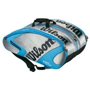 Wilson [K] Pro Tour Super Six Pack Tennis Bag   Silver