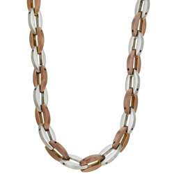 Two tone Stainless Steel Neck Chain  Overstock