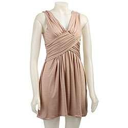 Blush Womens Double cross Grecian Dress
