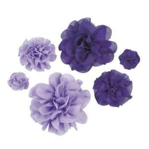 Purple Monochromatic Flowers   Art & Craft Supplies