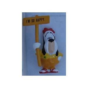 Droopy Dog PVC By Applause 1990 With Sign & Gold Pants