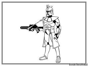 Star Wars Clone Trooper Decal Vinyl Sticker