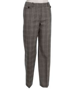 Larry Levine Womens Regular Length Checkered Pants