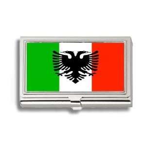 Arbereshe Albanian Flag Business Card Holder Metal Case