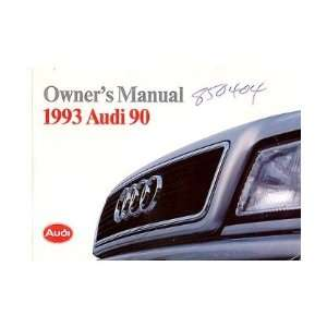 1993 AUDI 90 Owners Manual User Guide Automotive