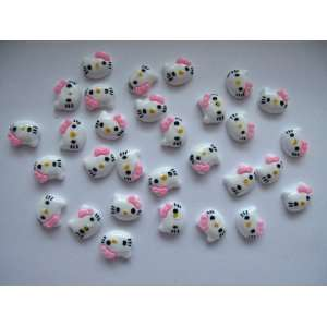 Nail Art 3d 30 Pieces Rose Hello Kitty Head for Nails, Cellphones 1