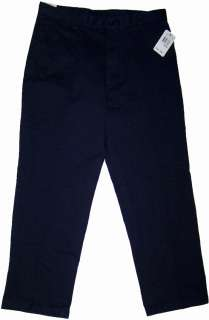 Nautica Relax Fit Flat Front Clipper Navy Blue 4TN pants NWT