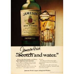 1979 Ad Jameson Irish Whiskey Calvert Distillery Bottle