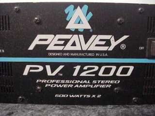 PEAVEY PV 1200 PROFESSIONAL STEREO POWER AMPLIFIER 600 WATTS PER