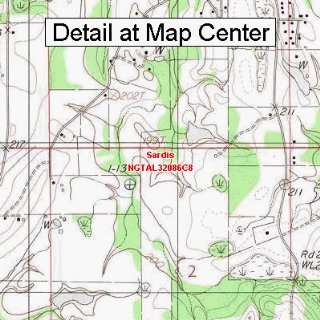 USGS Topographic Quadrangle Map   Sardis, Alabama (Folded