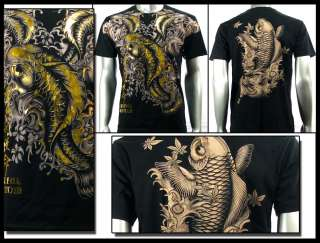Couture T Shirt Tattoo Rock AB21 Sz M L XL XXL Koi Fish Biker Japanese