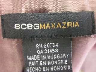 BCBG MAX AZRIA Brown Tweed Zip Up Jacket Sz 0