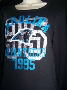 NWT VICTORIAS SECRET PINK CAROLINA PANTHERS SHIRT EXTRA SMALL