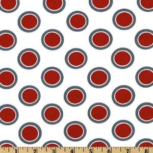 44 Wide Moda Hullabaloo Circle Dot Red Fabric By The