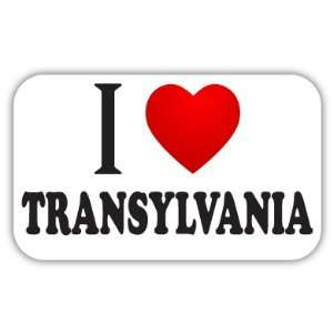 I Love TRANSYLVANIA Car Bumper Sticker Decal 5 X 3