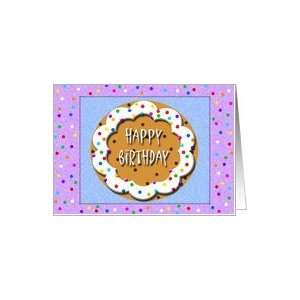 Chocolate Chip Cookie Happy Birthday Card Card Toys