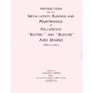 Rolls Royce Kestrel & Buzzard Aircraft Engine Maintenance Manual