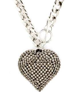 Basketball Wives Poparazzi inspired Crystal Heart Pendant toggle