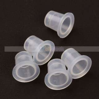 100Pcs Profession Pigment Ink Plastic Cups Tattoo Supplies 11mm Small