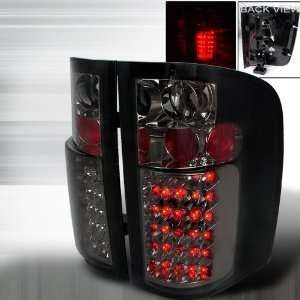 07 Up Chevy Silverado LED Altezza Tail Lights   Smoke